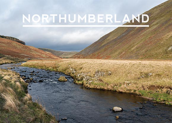 image of the front cover for the Northumberland calendar featuring Upper Coquetdale
